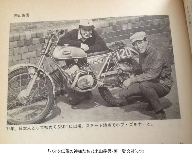 1970年SSDTに出場した時の西山さん。ボブ・ボスナーさんと。