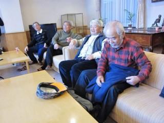 NPOの理事の方々。手前からモトクロス初代チャンピオン山本隆さん、古谷理事長、渡部さん、吉田さん。