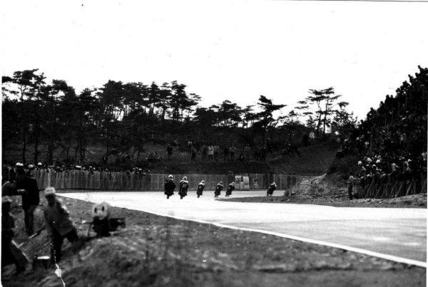 1962年の鈴鹿サーキット(最終コーナー)