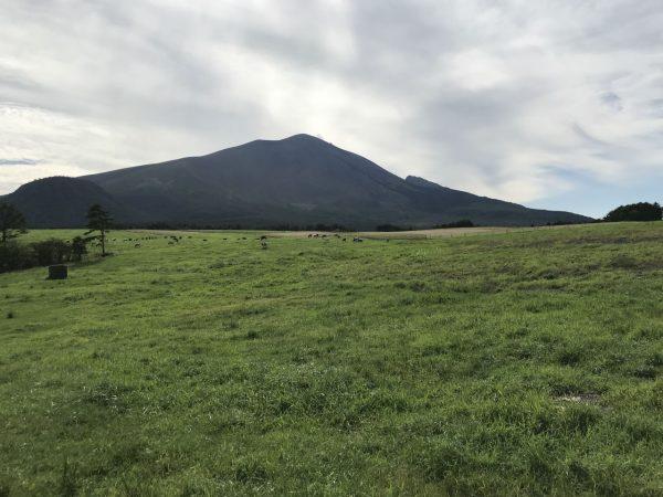 浅間牧場と浅間山と浅間高原自動車テストコース跡